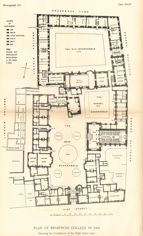 College Buildings Brasenose College Oxford
