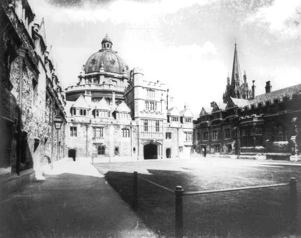 Photograph of the Old Quad taken in the 1890s